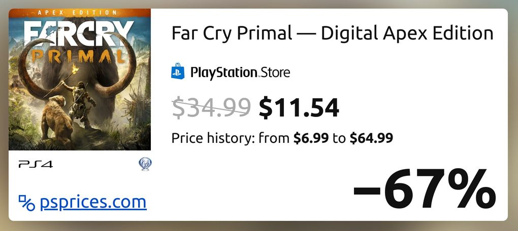 Far Cry Primal Digital Apex Edition For Ps4 Buy Cheaper In Official Store Psprices Usa