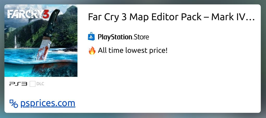 Far Cry 3 Map Editor Pack Mark Iv Style For Ps3 Buy Cheaper In